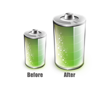 ls475w + vysoce účinná 900mAh baterie