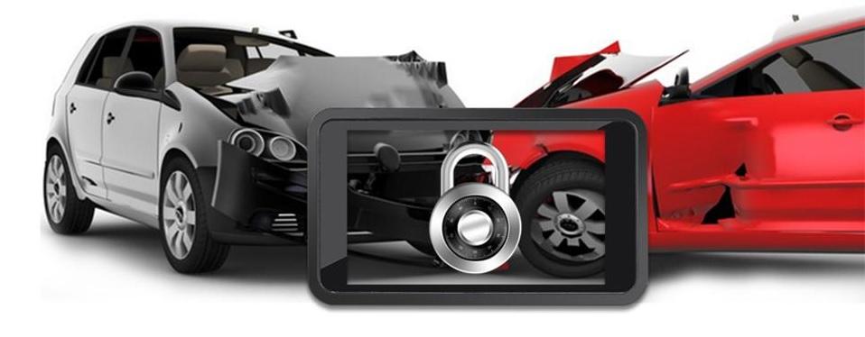 kamera do auta g-senzor