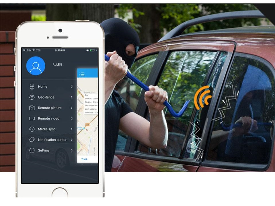 kamera do auta profio vibrační alarm