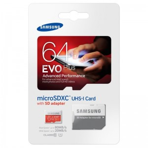 Samsung micro EVO Plus SDXC 64GB + SD adaptér